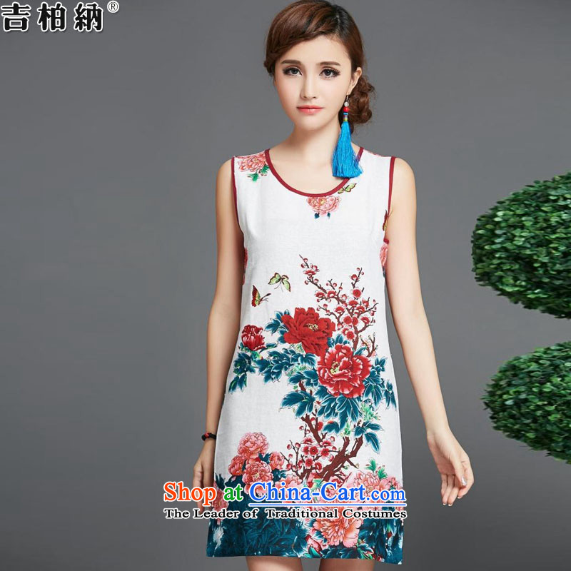 Gil Park, summer 2015 new ethnic retro arts cheongsam gauze two kits dresses F1502# female red�XXL