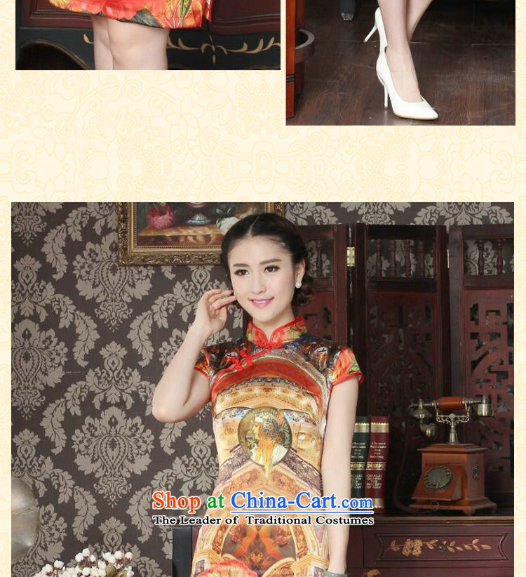 Dan smoke Silk Cheongsam summer new women's Chinese collar improved stylish western daily banquet qipao qipao figure color聽M brand, prices, picture platters! The elections are supplied in the national character of distribution, so action, buy now enjoy more preferential! As soon as possible.