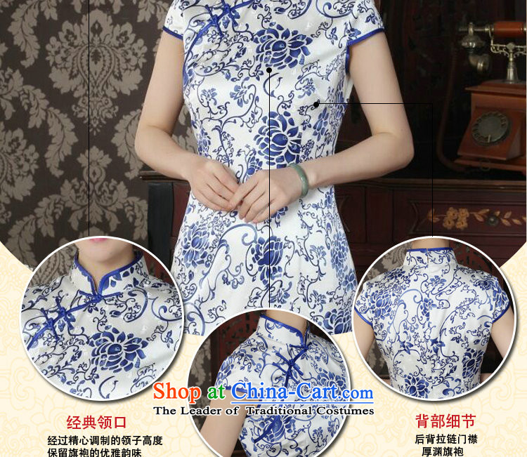 Dan smoke silk cheongsam dress summer qipao Chinese collar daily banquet antique porcelain herbs extract qipao figure color聽M brand, prices, picture platters! The elections are supplied in the national character of distribution, so action, buy now enjoy more preferential! As soon as possible.