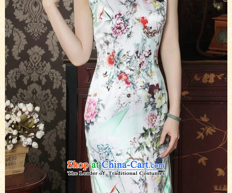 Dan smoke silk cheongsam dress qipao Chinese improved collar summer manually disc detained suit modern sauna Silk Cheongsam figure color聽pictures, prices, XL brand platters! The elections are supplied in the national character of distribution, so action, buy now enjoy more preferential! As soon as possible.