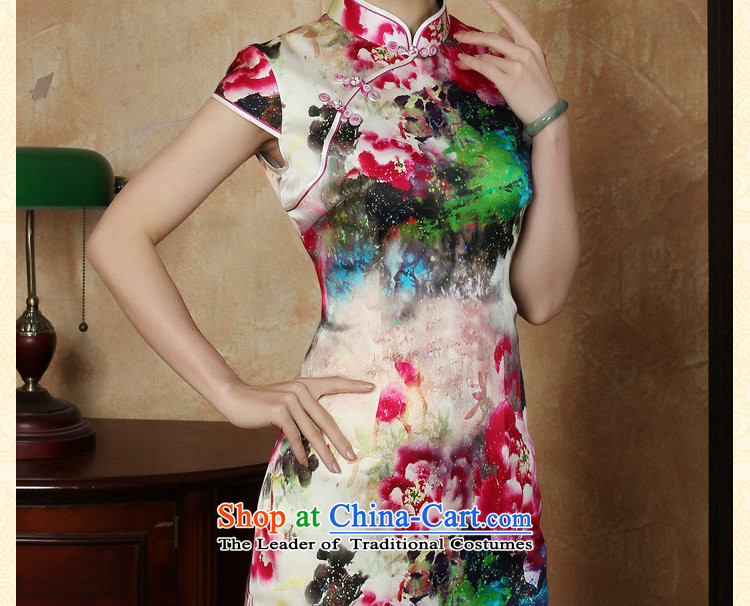 Dan smoke female qipao summer new Tang dynasty silk collar poster short qipao Chinese herbs extract improved short qipao聽3XL color image as shown in figure, prices, brand platters! The elections are supplied in the national character of distribution, so action, buy now enjoy more preferential! As soon as possible.