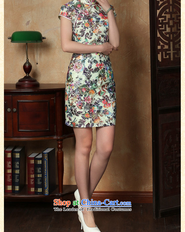 Dan smoke qipao new summer female Chinese improved lace Short-Sleeve Mock-Neck ramp up short cheongsam dress suit figure color聽pictures, prices, XL brand platters! The elections are supplied in the national character of distribution, so action, buy now enjoy more preferential! As soon as possible.