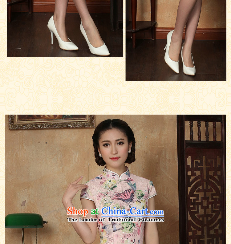 Figure for summer flowers new cheongsam dress Tang Dynasty Chinese lace improved daily collar short cheongsam dress as butterfly map color聽S picture, prices, brand platters! The elections are supplied in the national character of distribution, so action, buy now enjoy more preferential! As soon as possible.