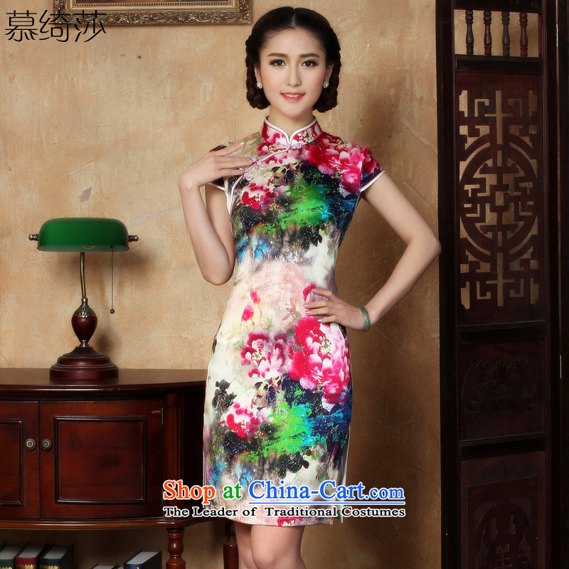 The Court wishes to�15 Elizabeth Yee-new cheongsam dress summer heavyweight Silk Cheongsam Dress Short燳5120_ M