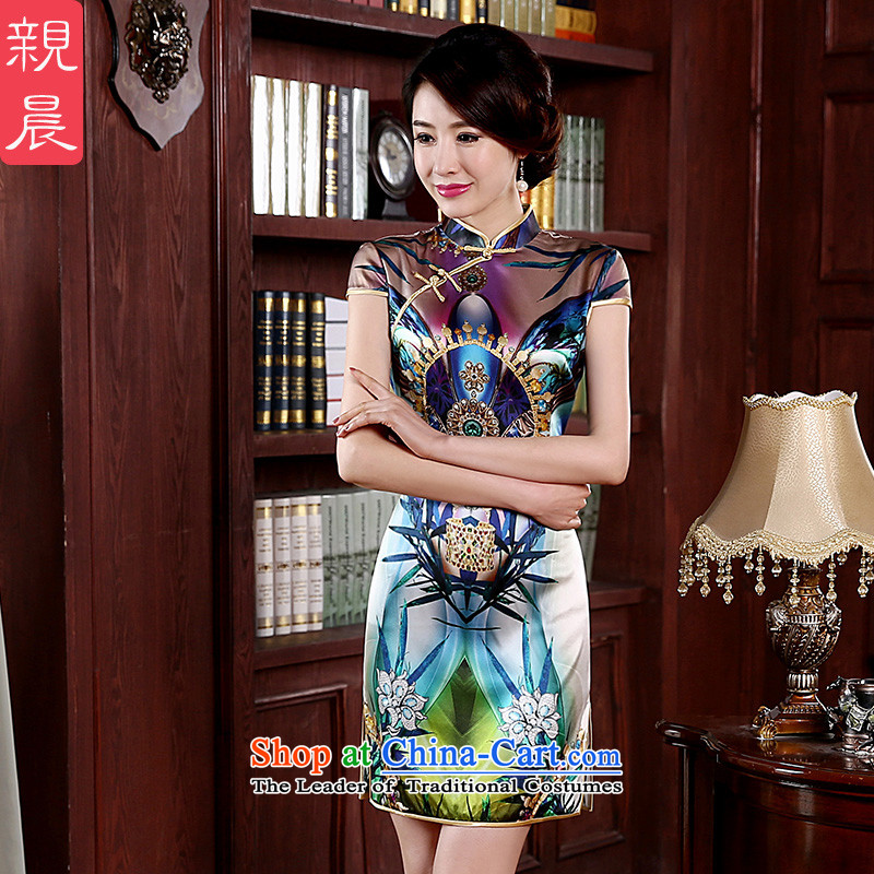At 2015 new parent autumn herbs extract routine retro summer short of Sau San upscale Silk Cheongsam short of modern improved 2XL-10 day