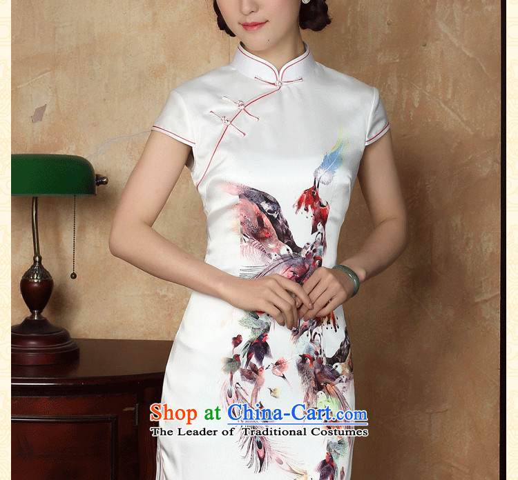 Dan smoke summer new cheongsam dress Phoenix emulation silk Chinese improved collar short cheongsam dress elegant daily figure color聽pictures, prices, XL brand platters! The elections are supplied in the national character of distribution, so action, buy now enjoy more preferential! As soon as possible.