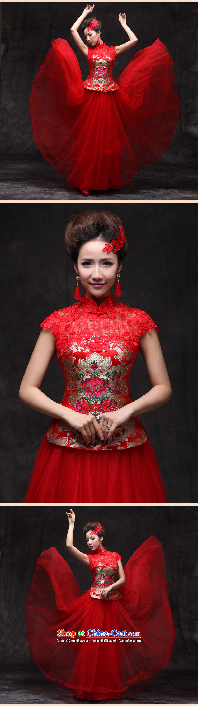 Sau Wo Saga Soo Wo Service Chinese Dress improved services cheongsam dress bride bows Sau San retro marriage qipao large red qipao large red聽XL Photo, prices, brand platters! The elections are supplied in the national character of distribution, so action, buy now enjoy more preferential! As soon as possible.