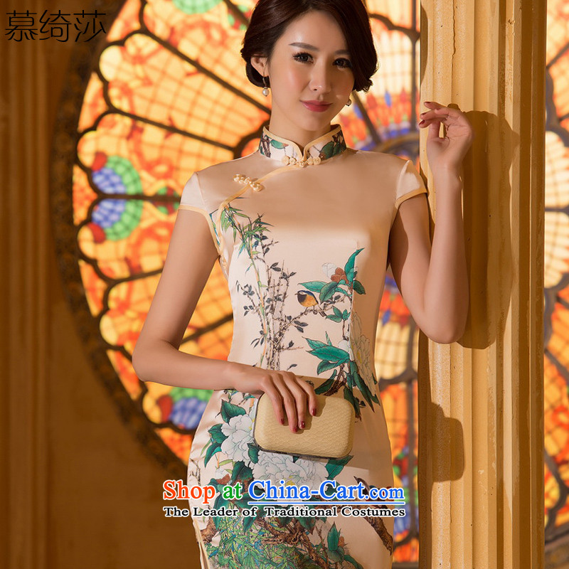 The cross-sa privacy water爊ew summer 2015, the National Women's Day-to-retro-style qipao improved female燴A 066 M