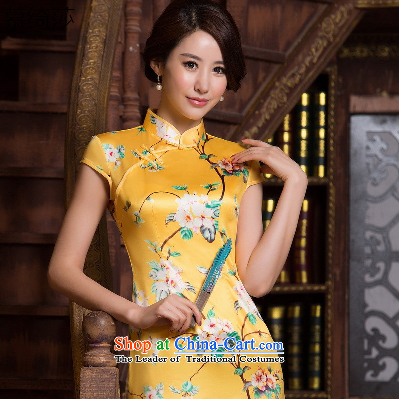 The cross-Sha Hu dull new cheongsam improved summer retro style qipao Sau San dresses?ZA067 S