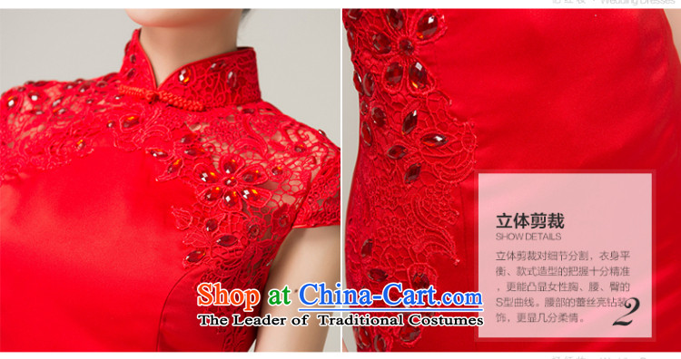 Recalling that the red collar packages in Colombia shoulder red long marriages qipao Chinese spring and summer retro crowsfoot bows dress Q13619 RED S picture, prices, brand platters! The elections are supplied in the national character of distribution, so action, buy now enjoy more preferential! As soon as possible.