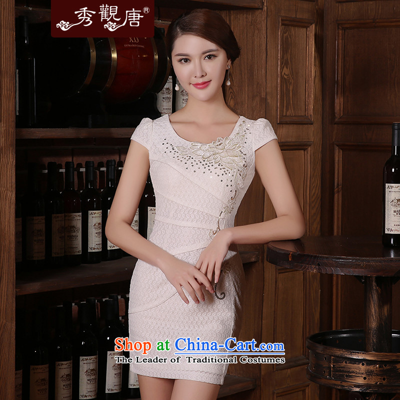 [Sau Kwun Tong] Priority Club Summer 2015, I should be grateful if you would have the cheongsam cheongsam dress the new improved Sleek and Sexy Women's dresses white?L