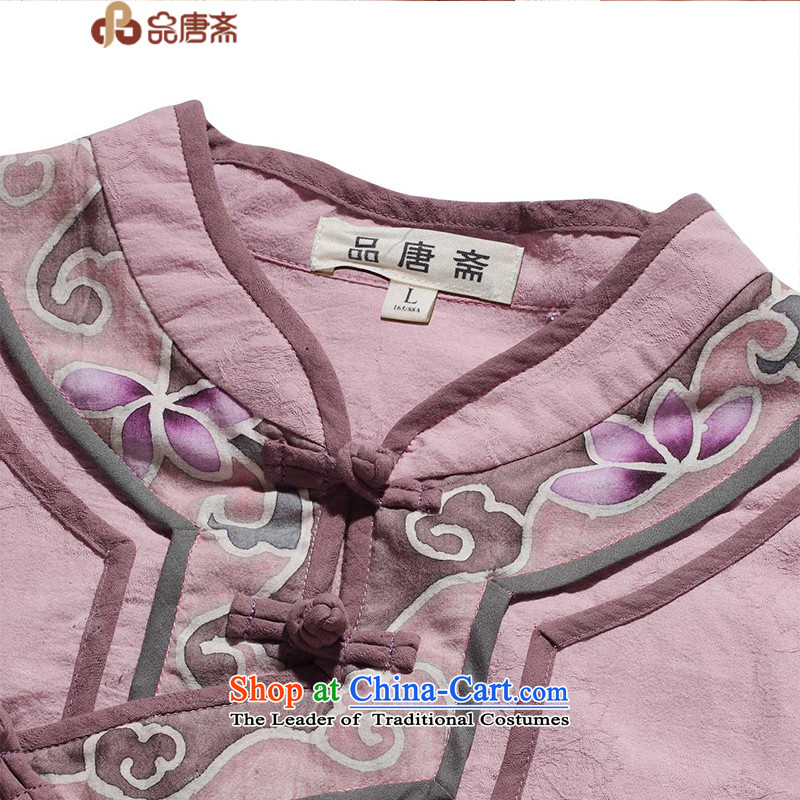 No. Tang Ramadan cotton linen Tang dynasty women of ethnic retro women short-sleeved T-shirt聽, light purple qipao and Tang Ramadan , , , shopping on the Internet