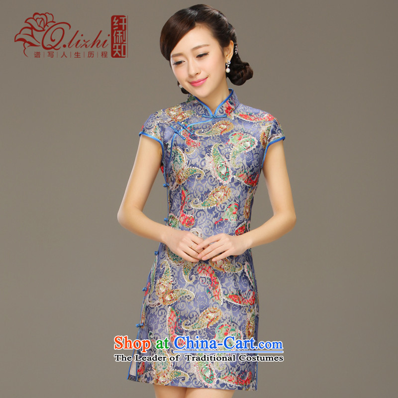The former Yugoslavia informed the day-to-Cut Li cheongsam dress improved stylish 2015 Summer new lace dresses qipao燪LZ15QQ6004燾lip the Sau San燲XL