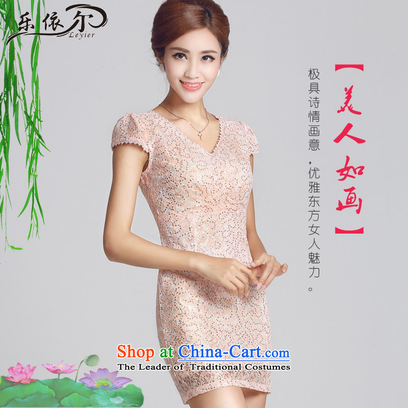 According to the daily, improvement of Lady qipao and retro qipao Sau San package short skirt qipao LYE66616 pink?XXL