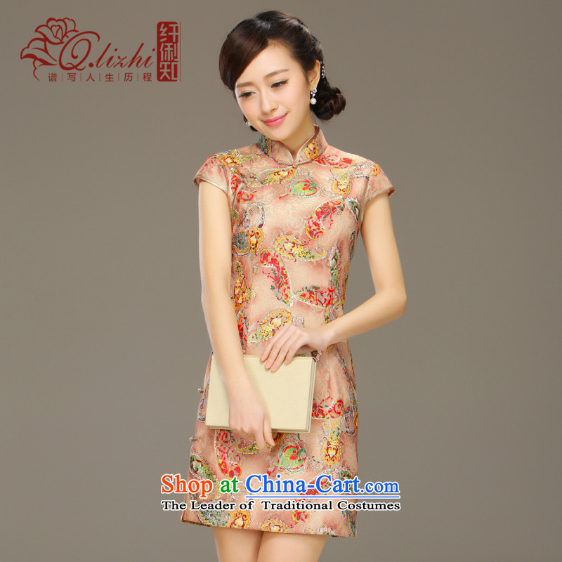 It will fall off the former Yugoslavia Li daily cheongsam dress improved stylish 2015 Summer new lace dresses qipao燪LZ15Q6039 Sau San牋S color picture