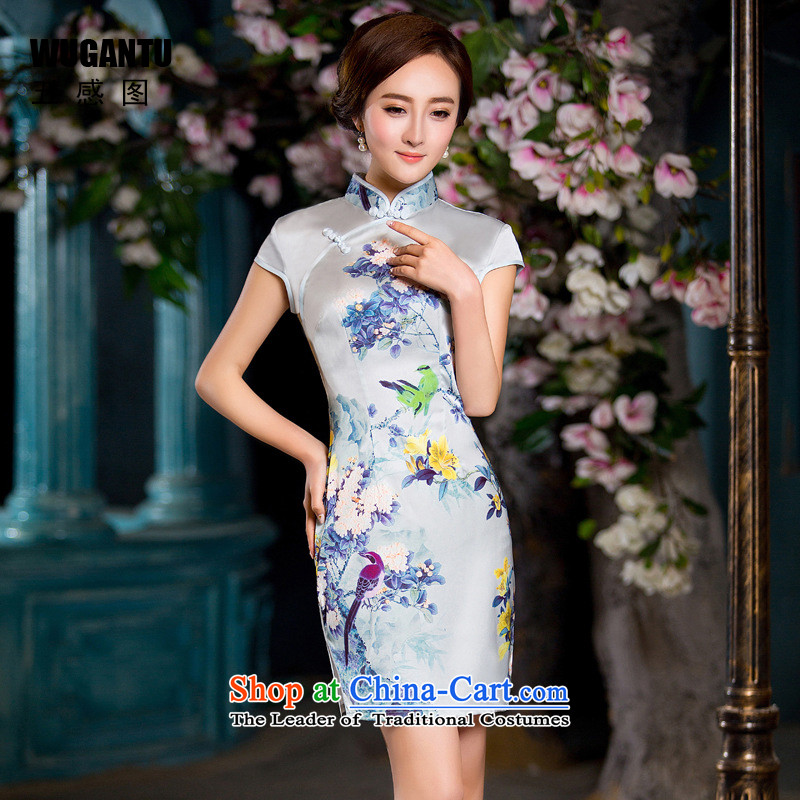 The five senses Figure Sau San sexy cheongsam dress 2015 New China Wind Flower pattern of ethnic dress燱GT178爌icture color燣