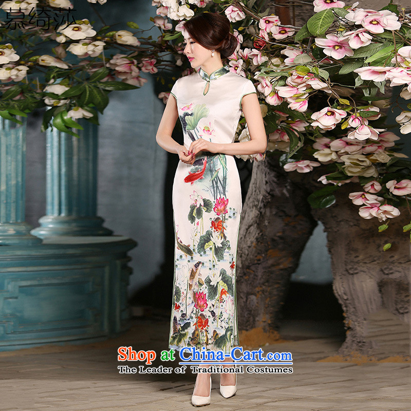 The cross-sa from the Sudan new long summer retro style qipao qipao improved female qipao everyday dress燴A304 S
