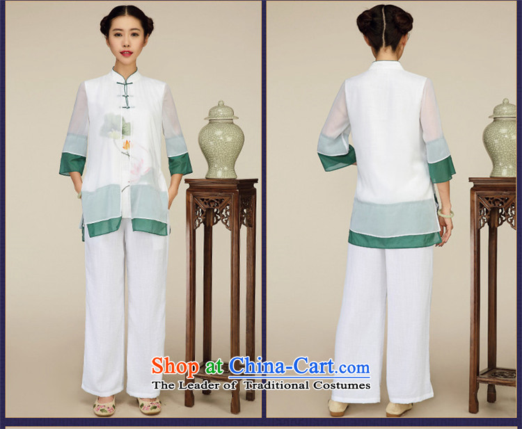 No. of Ramadan New Tang Tang dynasty blouses China wind arts retro female tea Services White M picture, prices, brand platters! The elections are supplied in the national character of distribution, so action, buy now enjoy more preferential! As soon as possible.