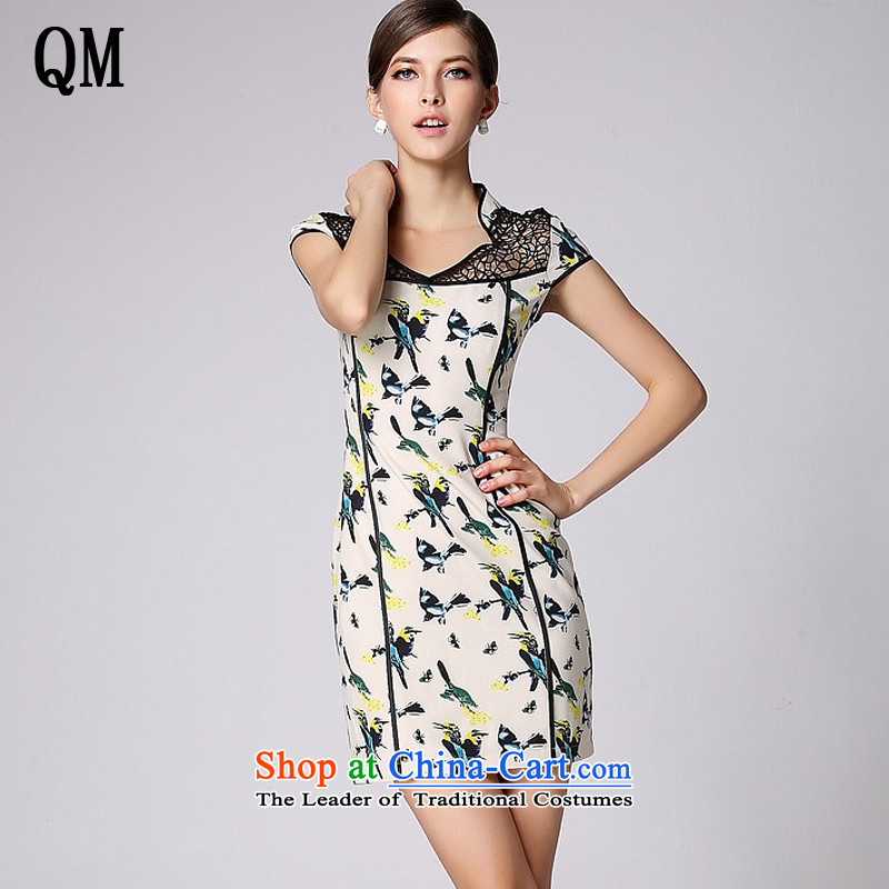 At the end of light and stylish cheongsam dress improved short-sleeved engraving no qipao燲WG140401's爉ap color燬