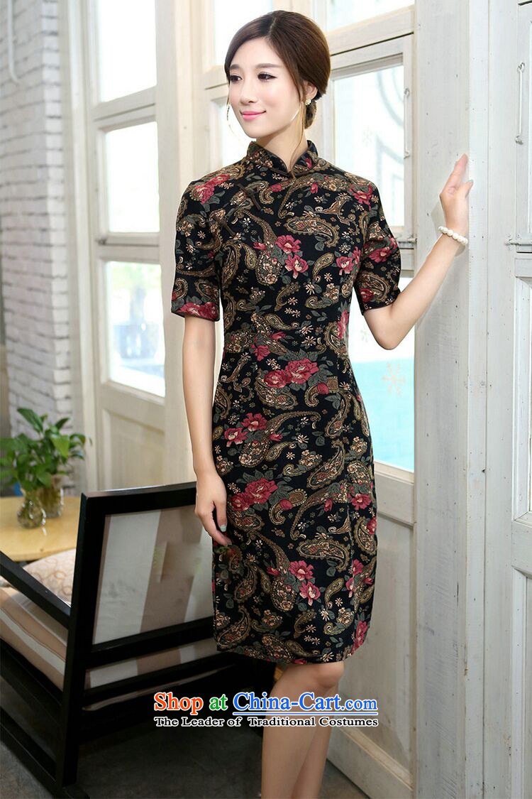 Figure for summer flowers cheongsam dress improvement in collar in the Cuff long cotton linen word manually detained retro figure color qipao Sau San S picture, prices, brand platters! The elections are supplied in the national character of distribution, so action, buy now enjoy more preferential! As soon as possible.