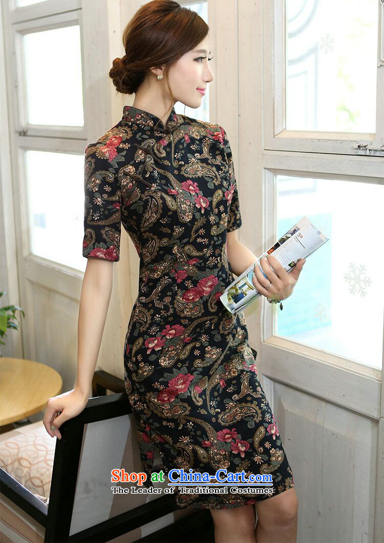 Figure for summer flowers cheongsam dress improvement in collar in the Cuff long cotton linen word manually detained retro figure color qipao Sau San聽S picture, prices, brand platters! The elections are supplied in the national character of distribution, so action, buy now enjoy more preferential! As soon as possible.