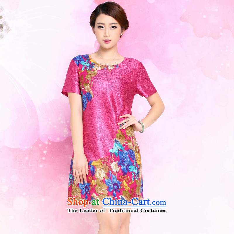 2015 Summer forest narcissus New Silk wrinkled with large relaxd mother Tang dynasty dresses XYY-8326 better red L