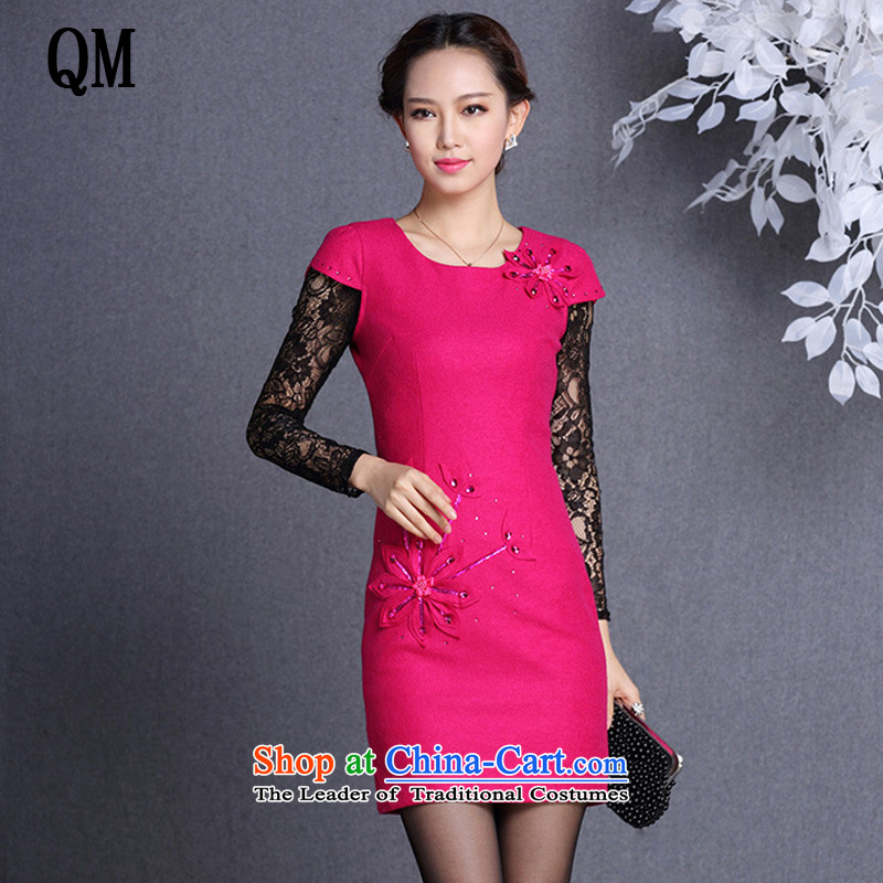 The end of the light of improved gross? spend three-dimensional fashion short qipao stylish spend on short film stereo qipao?XWG819?RED?XXL