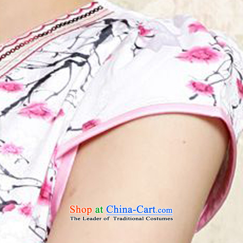 2015 Summer forest narcissus new retro style qipao emblazoned with the Phillips-head short of improved package and video thin Sau San Tong JAYT-30 replacing white qipao toner XXL, flower forest (senlinshuixian narcissus) , , , shopping on the Internet