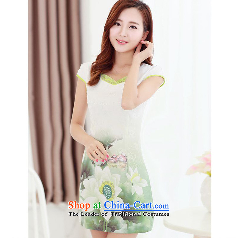 Forest Narcissus Summer 2015 on a new stylish and elegant qipao fresh water lily Mudan improved suit and video thin package Sau San Tong JAYT-2 replacing lotus qipao燬
