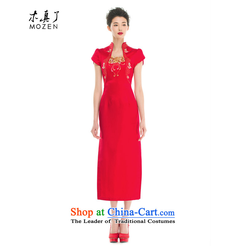 Wooden really a bride in classical style qipao gown 2015 Summer new women's NO.21809 visitor 05 RED?M