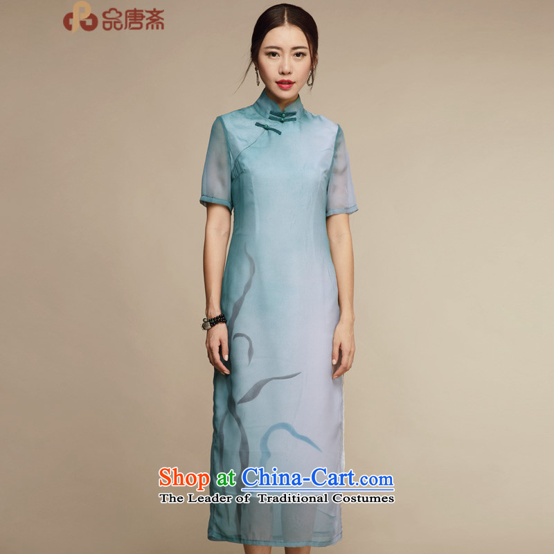 No. of Ramadan?2015 ethnic Tang new summer improved stylish Ms. Sau San cheongsam dress photo color?XL