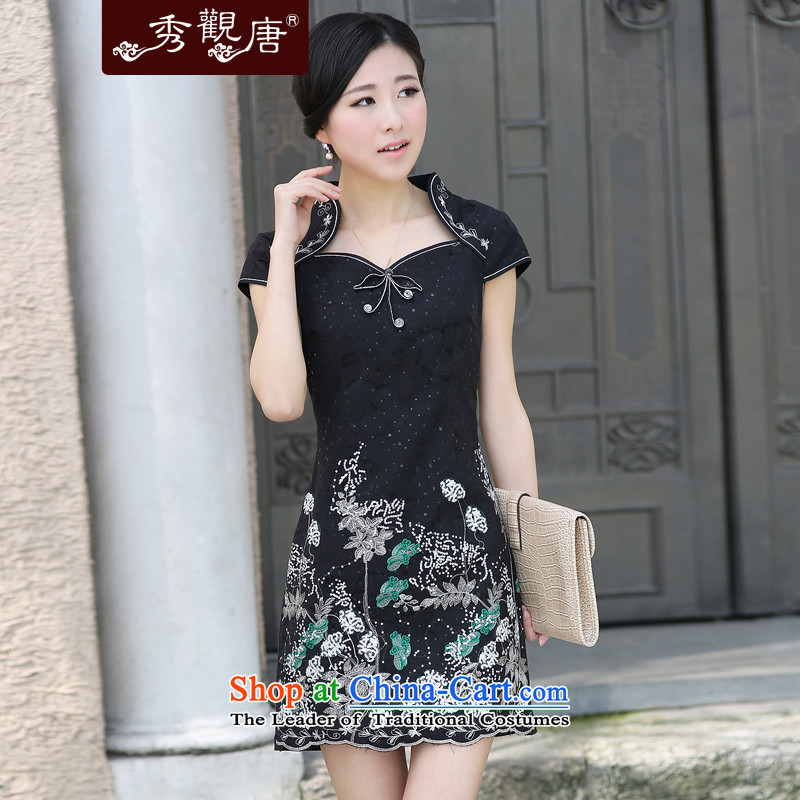 -Sau Kwun Tong- take away the darkness of stylish decorated in the summer of improved qipao temperament as Retro dresses _G611313 picture color?M