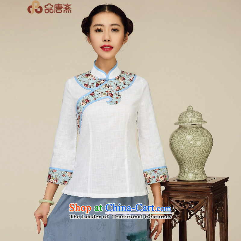 No. of Ramadan 2015 spring outfits Tang New Han-female Chinese shirt improved China wind l Tang blouses white�L