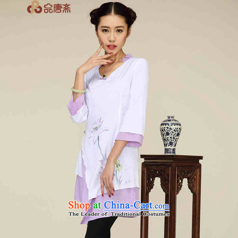 No. of Ramadan 2015 improved Tang Han-not the rules of national women's retro-tang blouses white?L