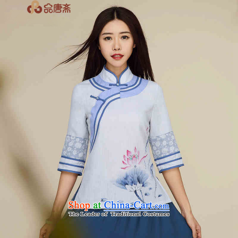 No. of Ramadan 2015 Han-tang IMPROVEMENT OF ETHNIC CHINESE WOMEN Sau San Tong Load T-shirt retro White?M