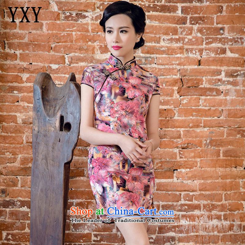 The skirt cheongsam dress suit China wind woman when street聽JT5082 2015聽Red聽S