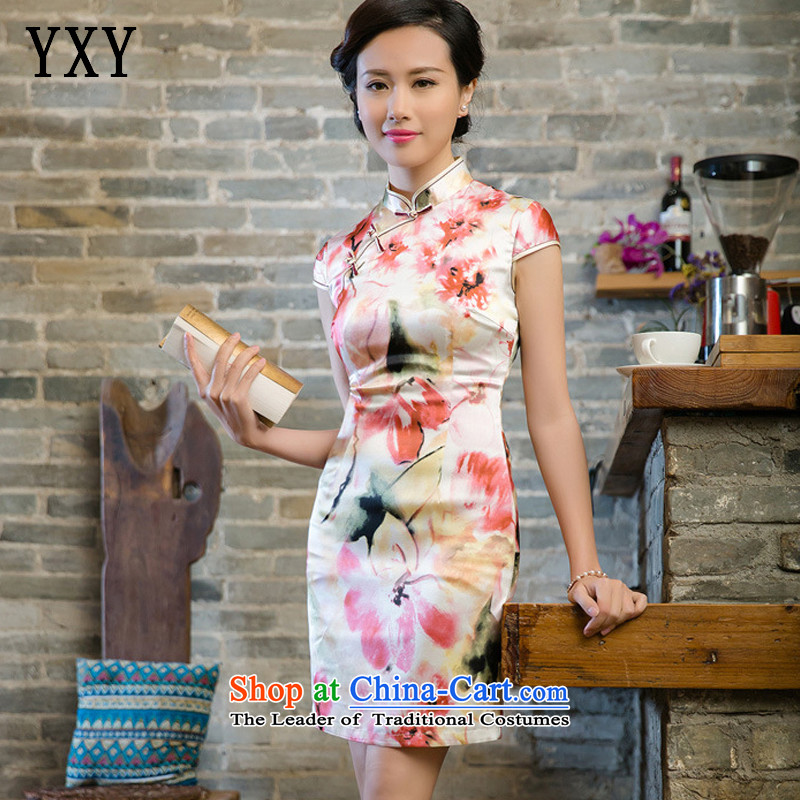 The skirt cheongsam dress suit China wind good style聽JT5080 2015聽RED聽M