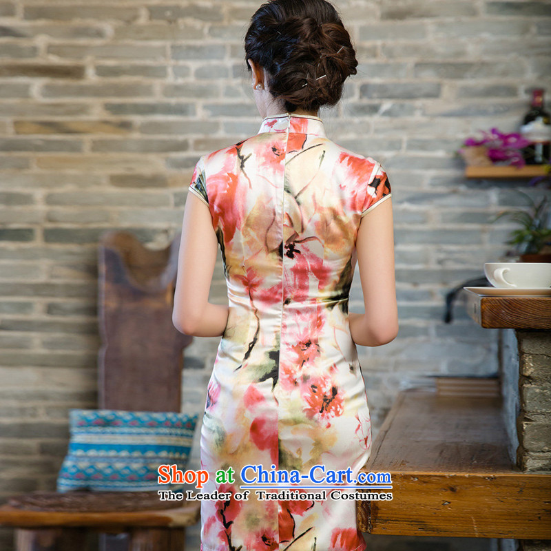 The skirt cheongsam dress suit China wind good style聽JT5080 2015聽Red聽M-line (youthinking cloud) , , , shopping on the Internet