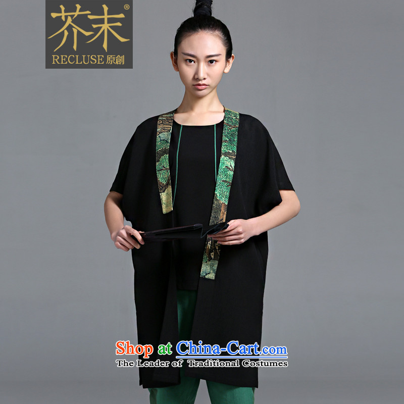 �� mustard original as soon as possible, Hong Kong/China wind Original Design Cardigan Tang Dynasty Chinese designer brands new women's black spot?M