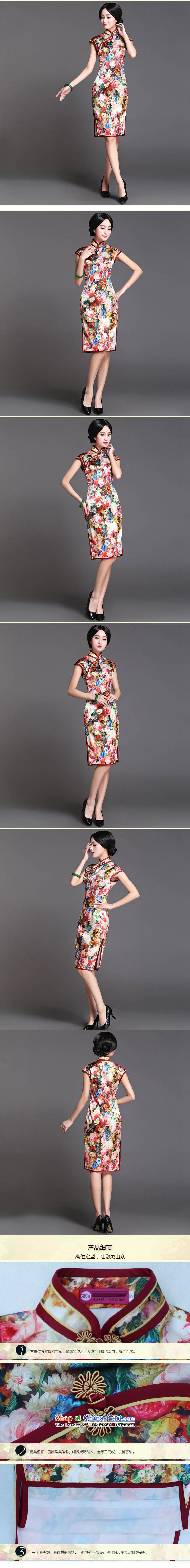 The end of the medium to long term, of light silk cheongsam dress sexy open dos Santos Silk Dresses's skirt AQE018 map color pictures, prices, XXL brand platters! The elections are supplied in the national character of distribution, so action, buy now enjoy more preferential! As soon as possible.