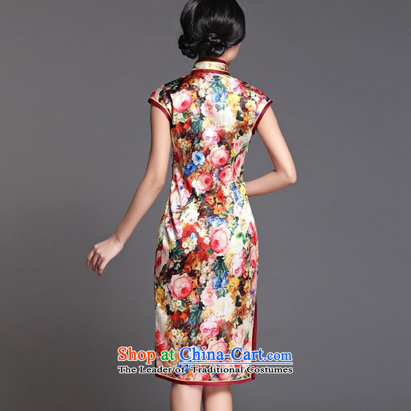The end of the medium to long term, of light silk cheongsam dress sexy open dos Santos Silk Dresses's skirtAQE018XXL, light at the end of map color , , , shopping on the Internet