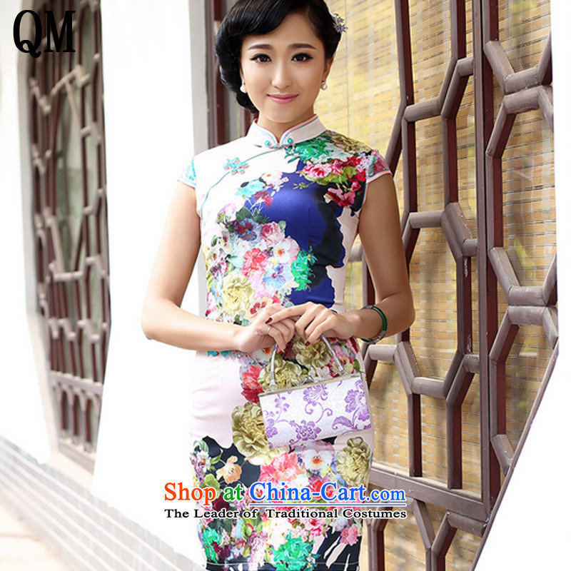 The end of the shallow China wind premium brands, silk-Tang dynasty retro style of the Republic of Korea dress dresses summer load燗QE8067爉ap color燤