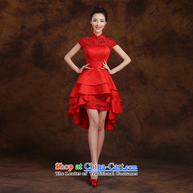 The first white into about�15 new product before long after short bride dinner banquet annual meeting of persons chairing the cheongsam evening dresses wedding small red燤