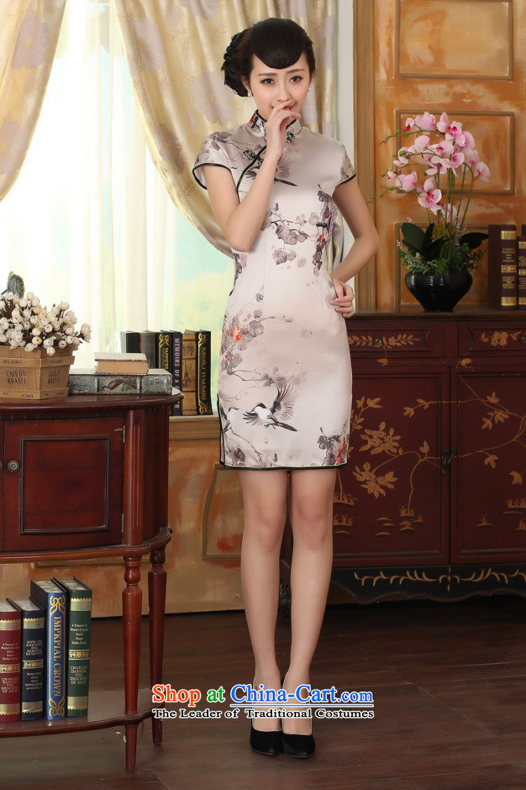 Figure for summer flowers female silk retro herbs extract poster stretch of Sau San double short qipao gown improved as Chinese color聽2XL Photo, prices, brand platters! The elections are supplied in the national character of distribution, so action, buy now enjoy more preferential! As soon as possible.