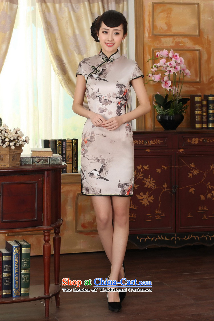 Dan smoke summer female silk retro herbs extract poster stretch of Sau San double short qipao gown improved as Chinese color聽S picture, prices, brand platters! The elections are supplied in the national character of distribution, so action, buy now enjoy more preferential! As soon as possible.