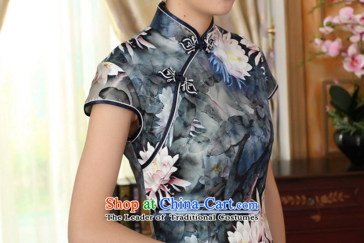 Dan smoke lotus pond and the new summer female Chinese Antique silk herbs extract double dinner short qipao figure color聽pictures, prices, XL brand platters! The elections are supplied in the national character of distribution, so action, buy now enjoy more preferential! As soon as possible.