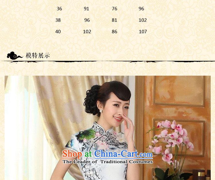 Dan smoke summer new women's Silk Cheongsam Retro classic Silk Satin Poster elastic Sau San double short qipao figure color聽M brand, prices, picture platters! The elections are supplied in the national character of distribution, so action, buy now enjoy more preferential! As soon as possible.