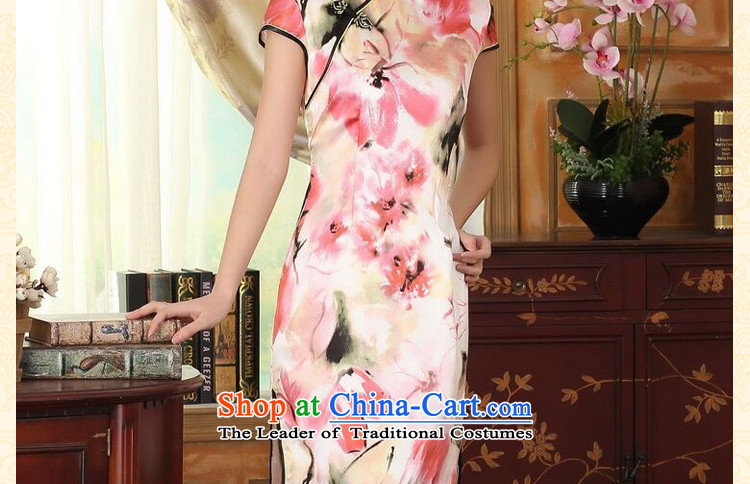 Dan smoke heavyweight silk Retro classic herbs extract Elastic satin poster improved Sau San double short skirt female water qipao toner聽L picture, prices, brand platters! The elections are supplied in the national character of distribution, so action, buy now enjoy more preferential! As soon as possible.