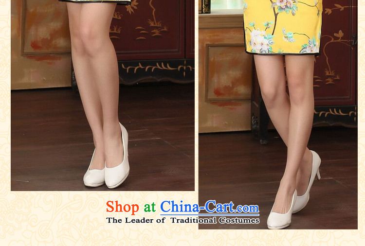 Dan smoke summer heavyweight silk Retro classic herbs extract Elastic satin poster improved Sau San double short skirt figure color qipao聽2XL Photo, prices, brand platters! The elections are supplied in the national character of distribution, so action, buy now enjoy more preferential! As soon as possible.