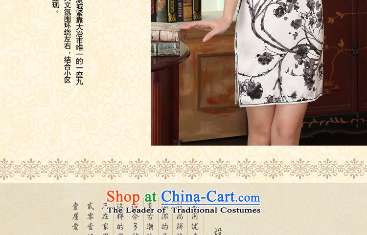 Floral summer heavyweight silk retro herbs extract improved inkjet ink Elastic satin Sau San double short qipao Figure聽2XL color pictures, prices, brand platters! The elections are supplied in the national character of distribution, so action, buy now enjoy more preferential! As soon as possible.